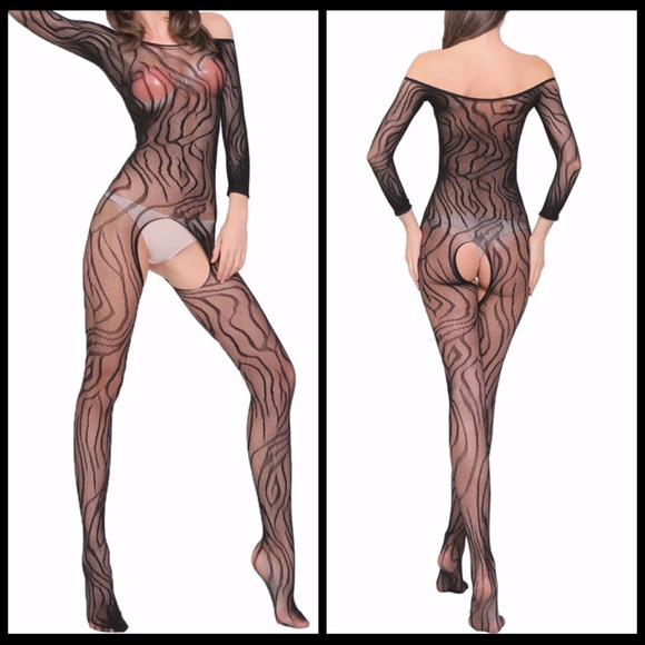 Miss Babydoll Other - ❤NEW Sexy Open Crotch Bodystocking Lingerire #L007